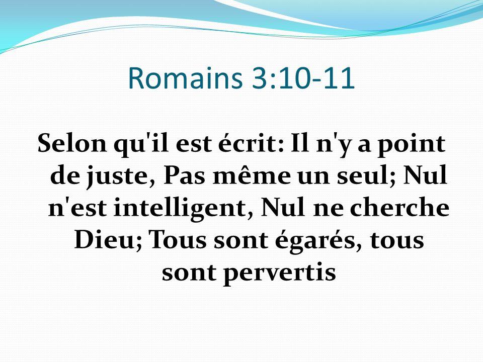 Romains 3:10-11