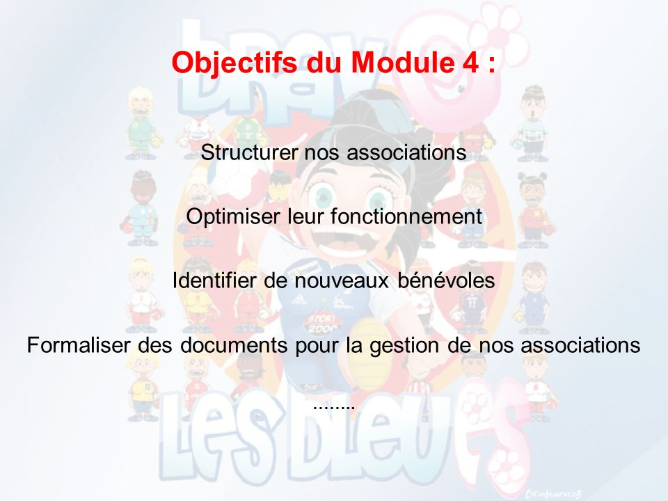 Objectifs du Module 4 : Structurer nos associations