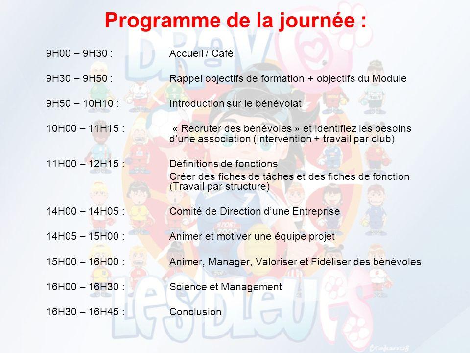 Programme de la journée :