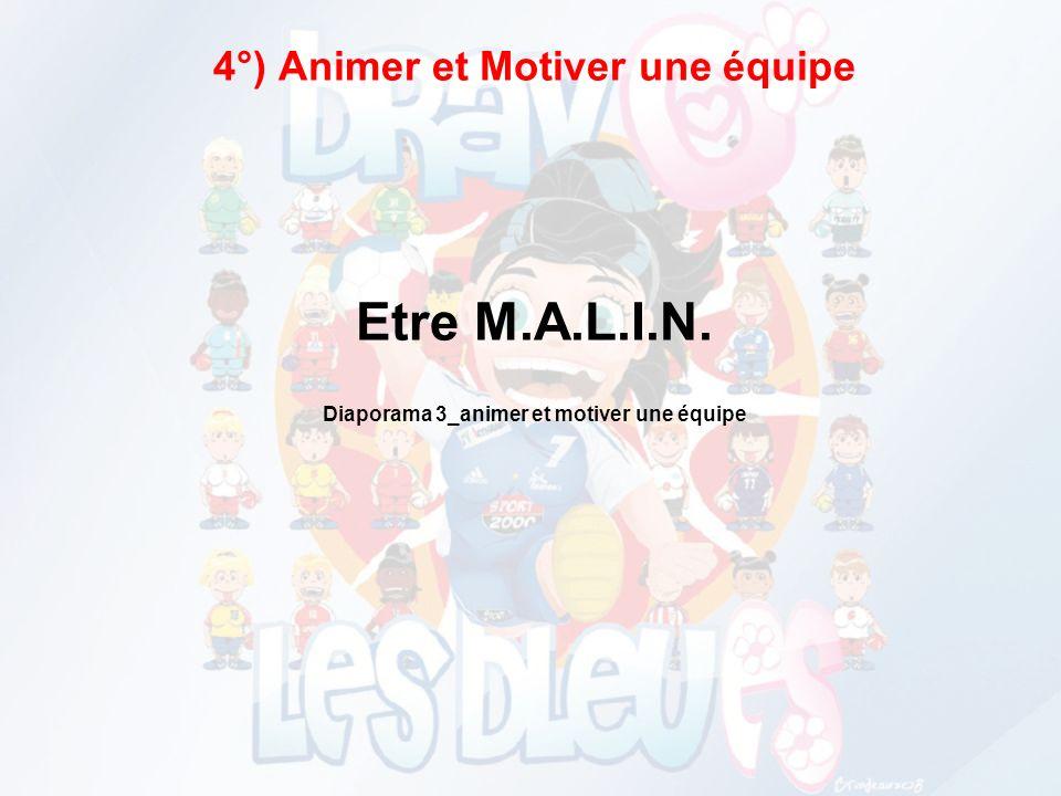 4°) Animer et Motiver une équipe Etre M. A. L. I. N