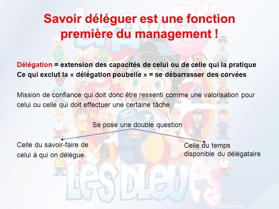 Savoir déléguer est une fonction première du management !