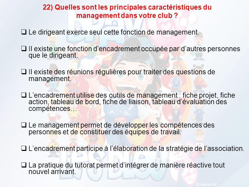 22) Quelles sont les principales caractéristiques du