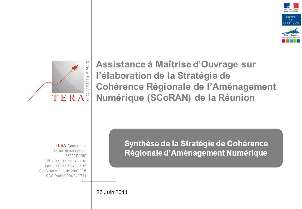 Assistance à Maîtrise d'Ouvrage sur l'élaboration de la Stratégie de Cohérence Régionale de l'Aménagement Numérique (SCoRAN) de la Réunion