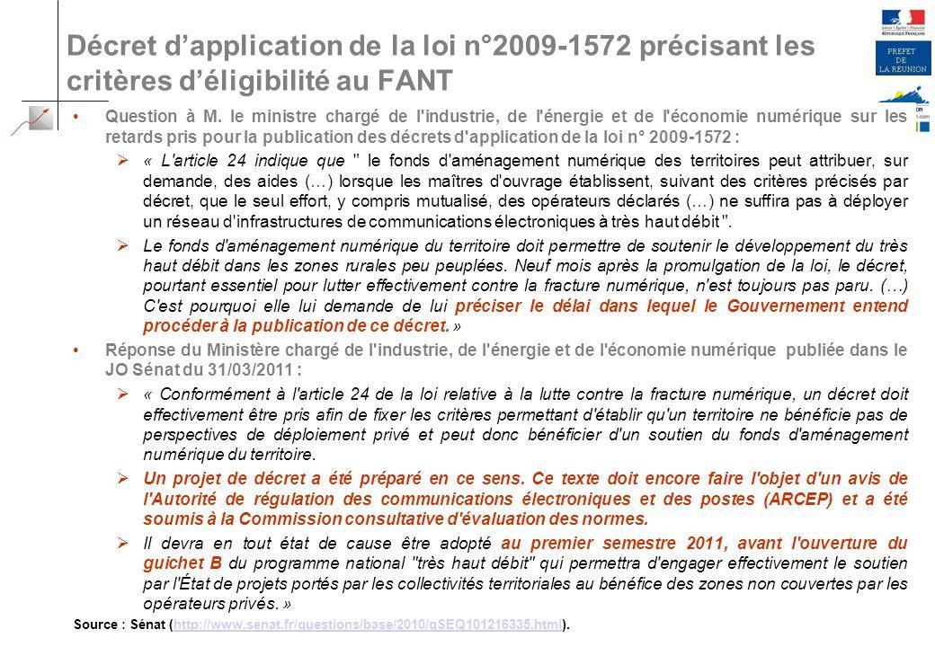 Décret d'application de la loi n°2009-1572 précisant les critères d'éligibilité au FANT