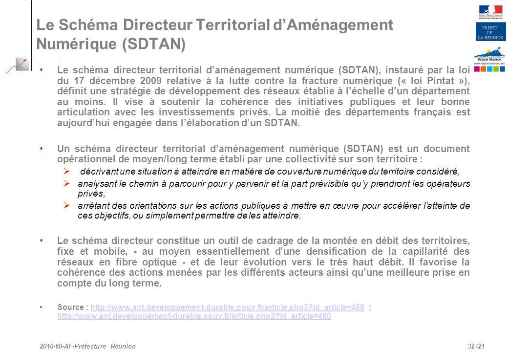 Le Schéma Directeur Territorial d'Aménagement Numérique (SDTAN)