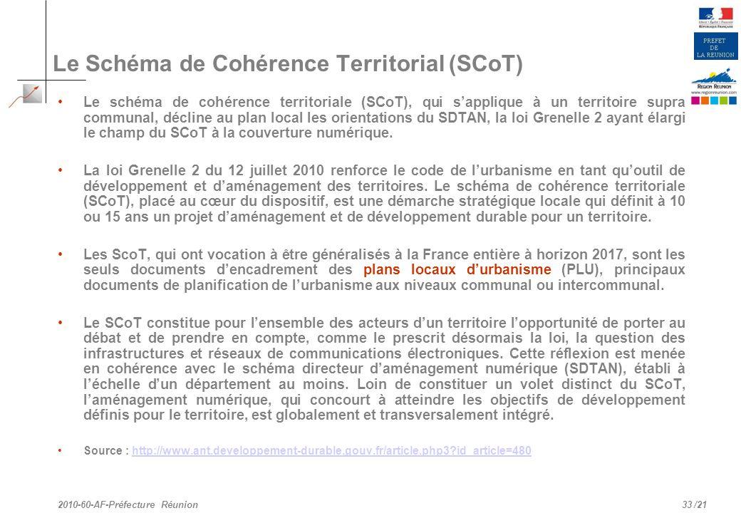 Le Schéma de Cohérence Territorial (SCoT)