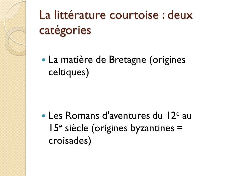 La littérature courtoise : deux catégories