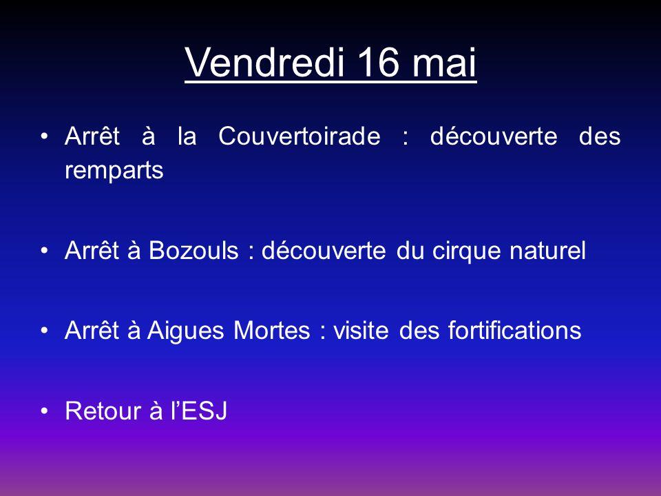 Vendredi 16 mai Arrêt à la Couvertoirade : découverte des remparts
