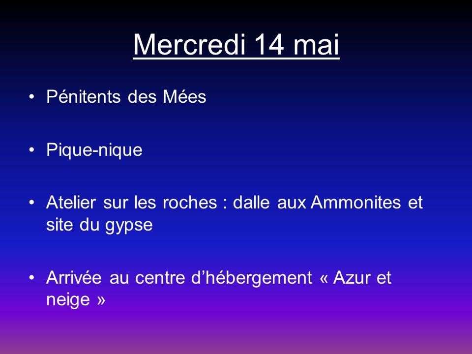 Mercredi 14 mai Pénitents des Mées Pique-nique
