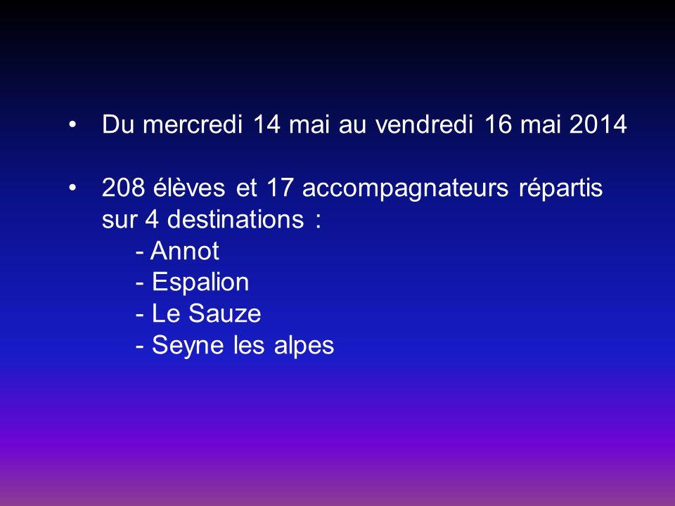 Du mercredi 14 mai au vendredi 16 mai 2014