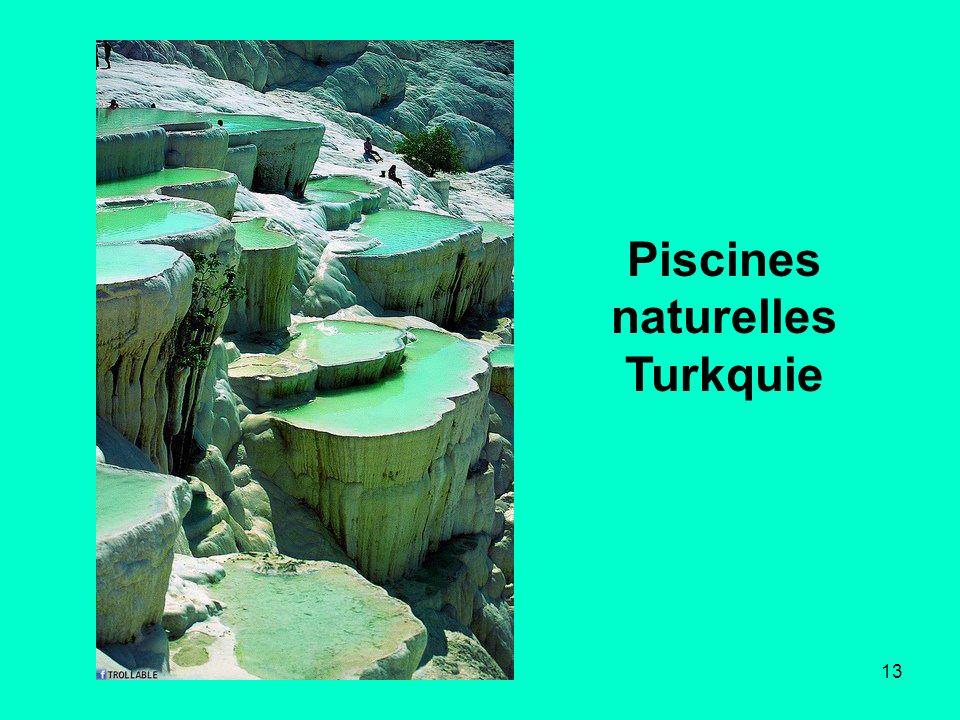 Piscines naturelles Turkquie