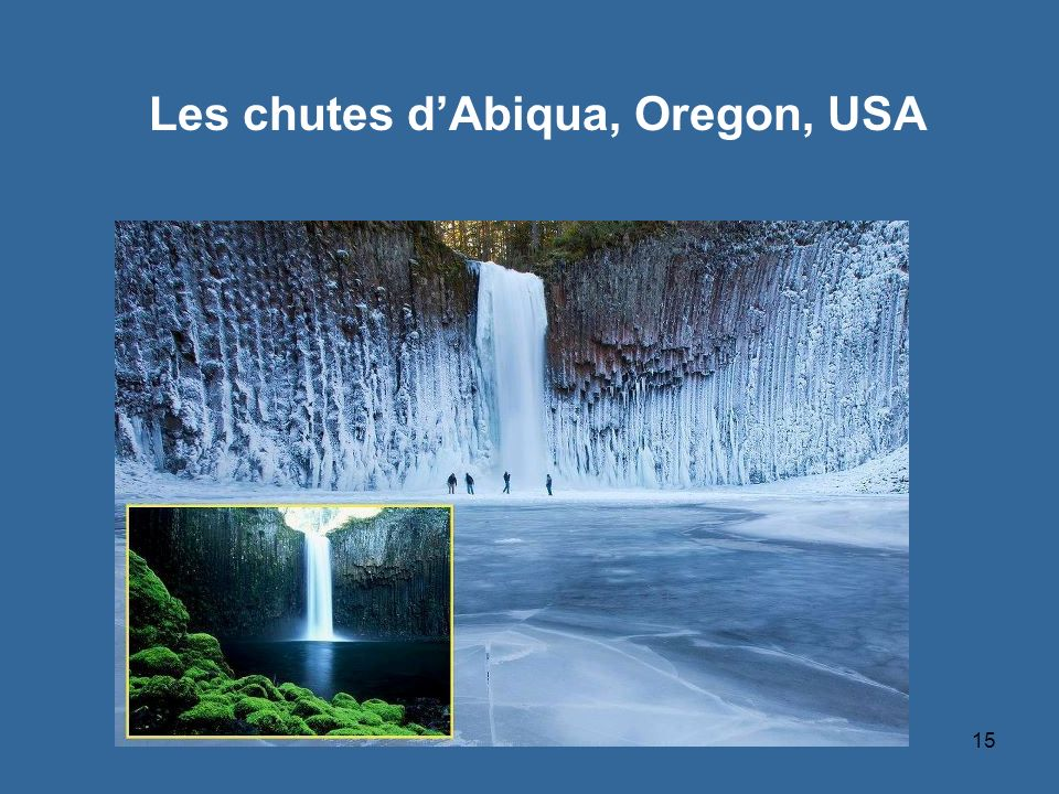 Les chutes d'Abiqua, Oregon, USA