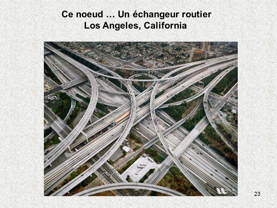 Ce noeud … Un échangeur routier Los Angeles, California