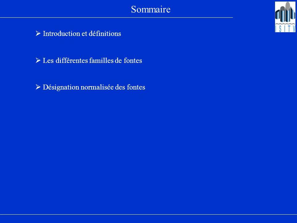 Sommaire  Introduction et définitions