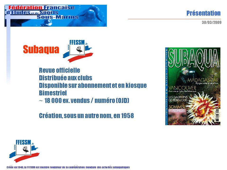 Subaqua Revue officielle Distribuée aux clubs