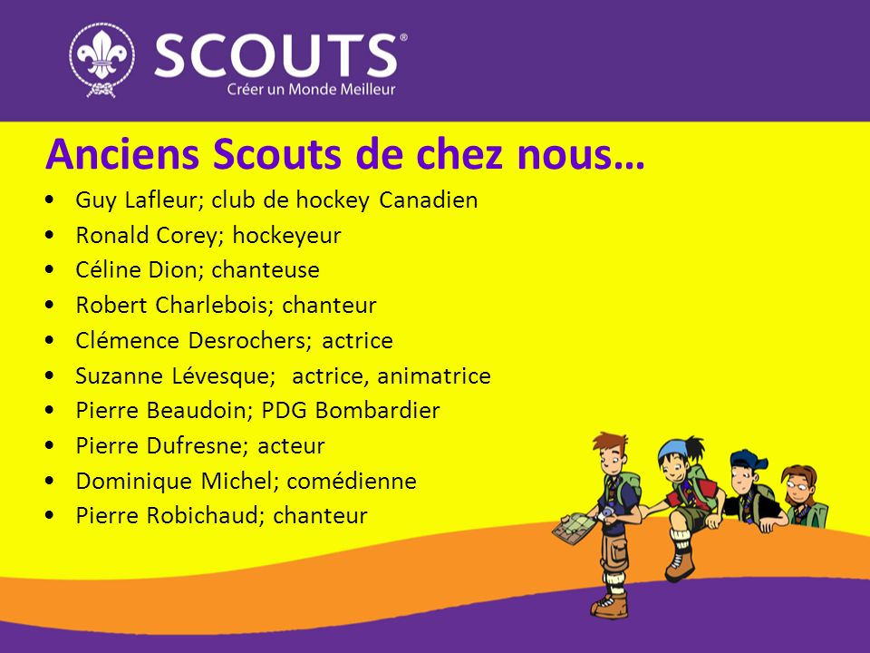 Anciens Scouts de chez nous…