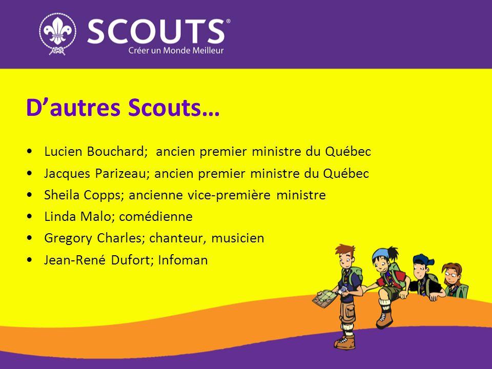 D'autres Scouts… Lucien Bouchard; ancien premier ministre du Québec
