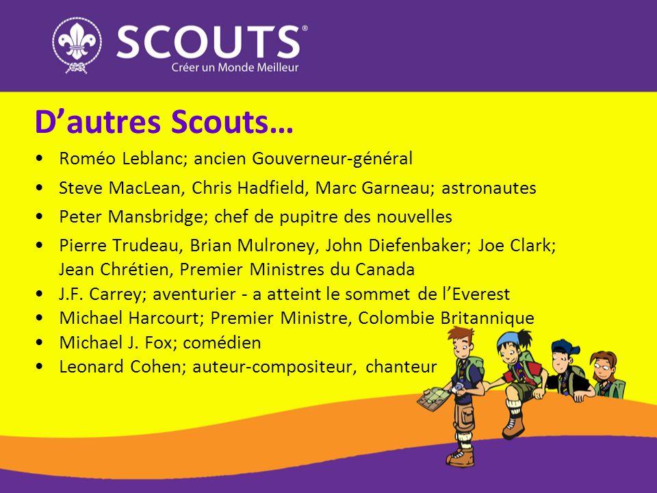 D'autres Scouts… Roméo Leblanc; ancien Gouverneur-général