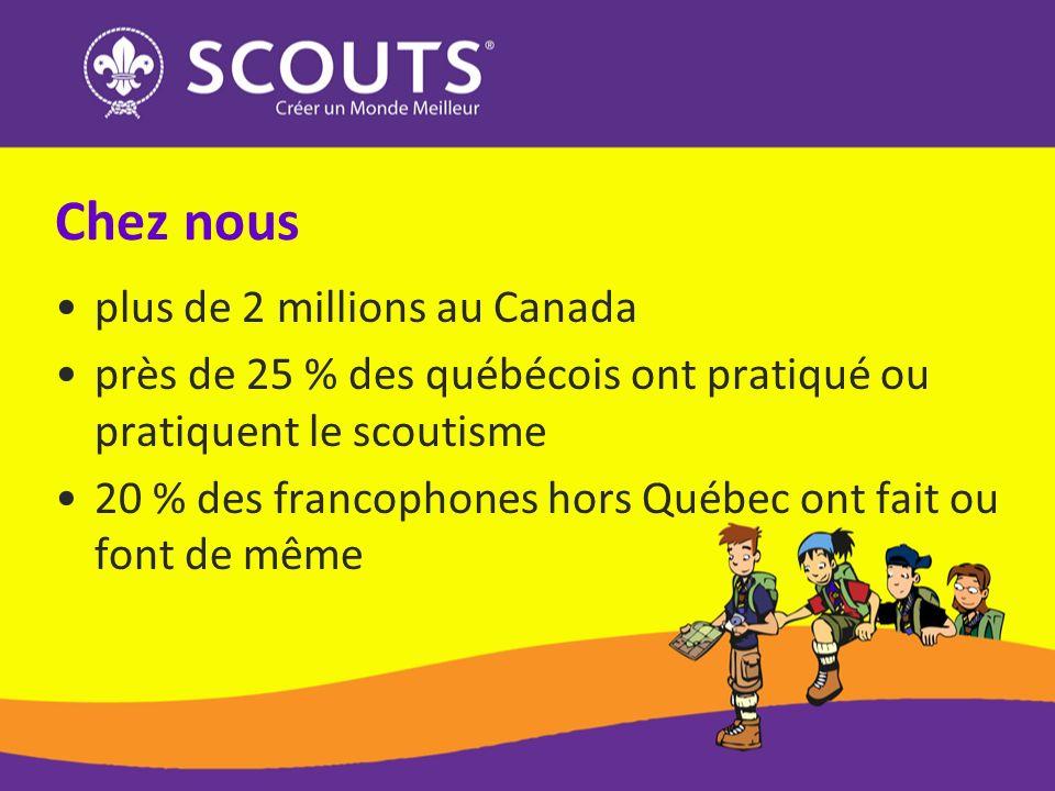 Chez nous plus de 2 millions au Canada