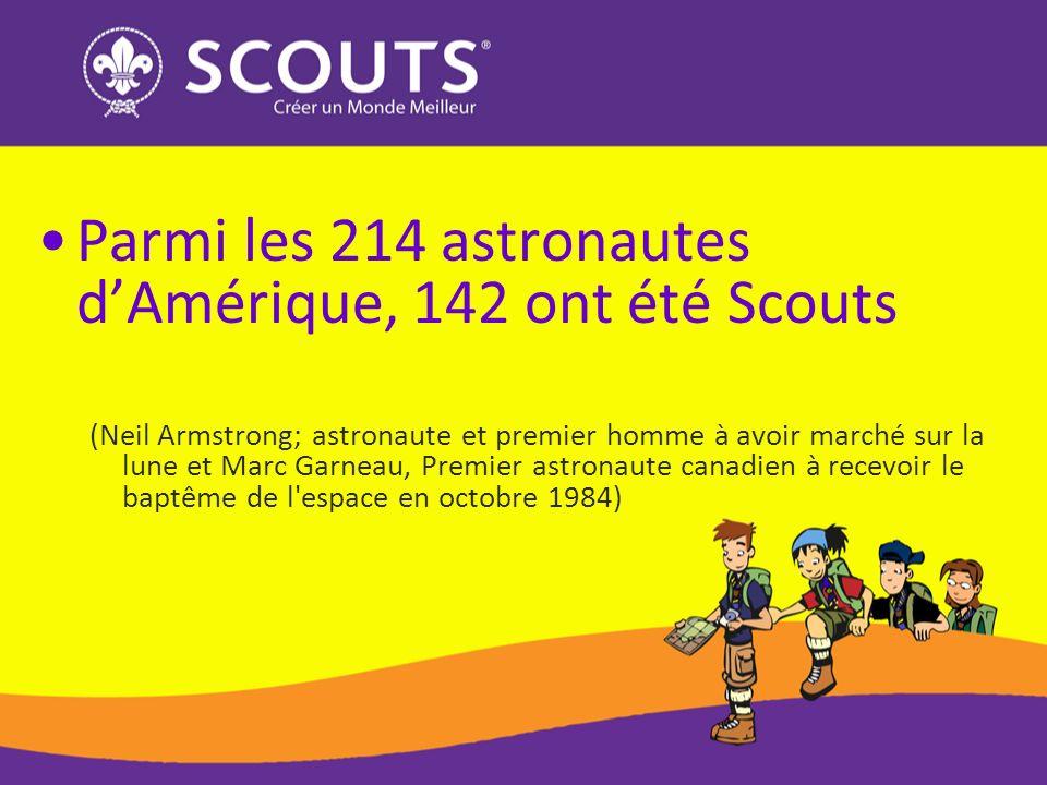 Parmi les 214 astronautes d'Amérique, 142 ont été Scouts