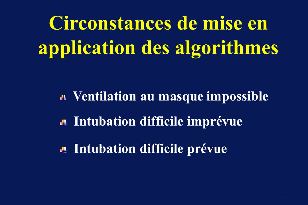 Circonstances de mise en application des algorithmes