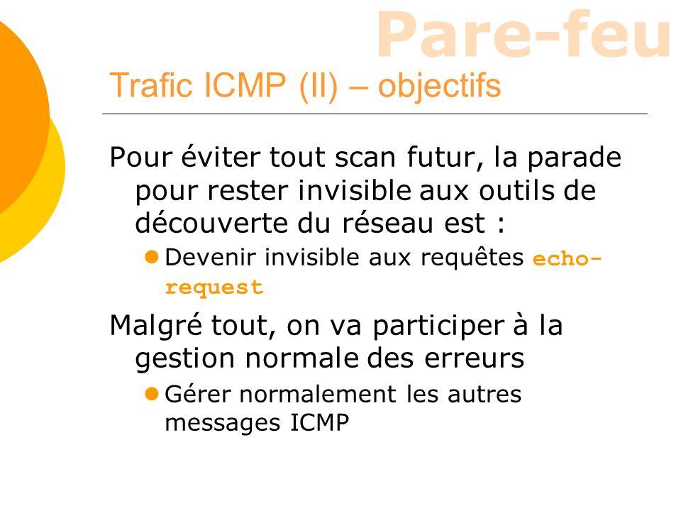 Trafic ICMP (II) – objectifs