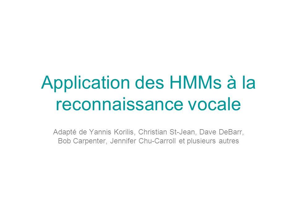 Application des HMMs à la reconnaissance vocale