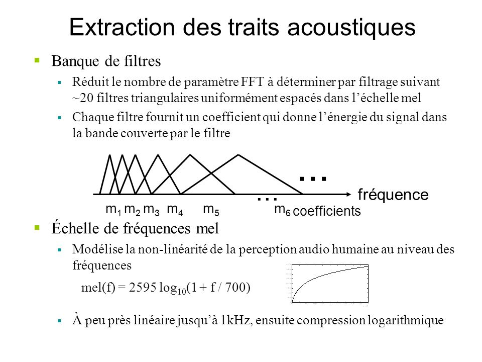 Extraction des traits acoustiques