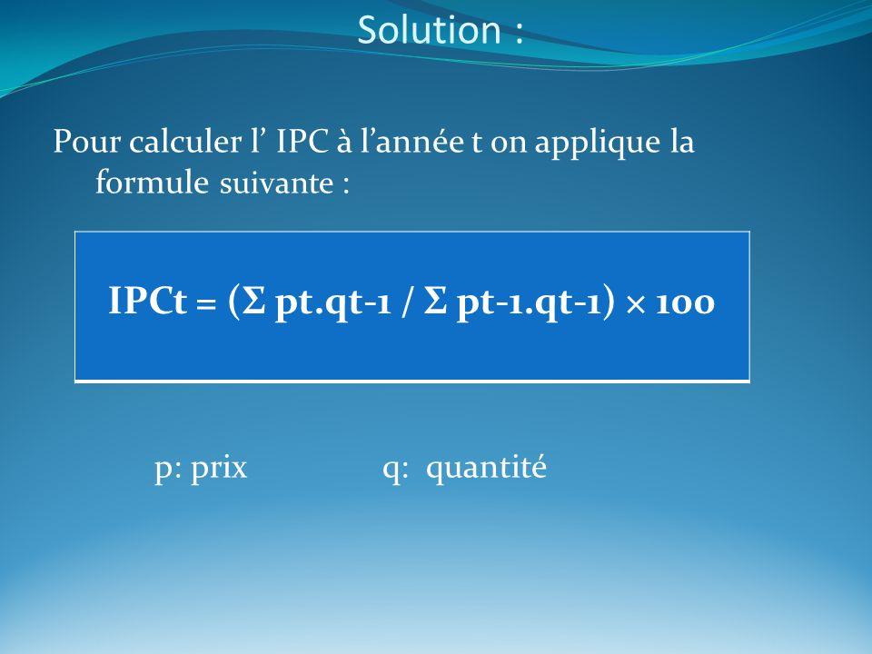 IPCt = (Σ pt.qt-1 / Σ pt-1.qt-1) × 100