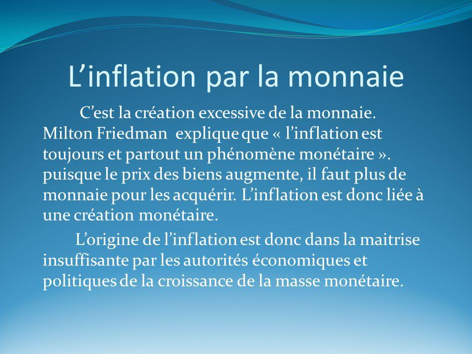 L'inflation par la monnaie
