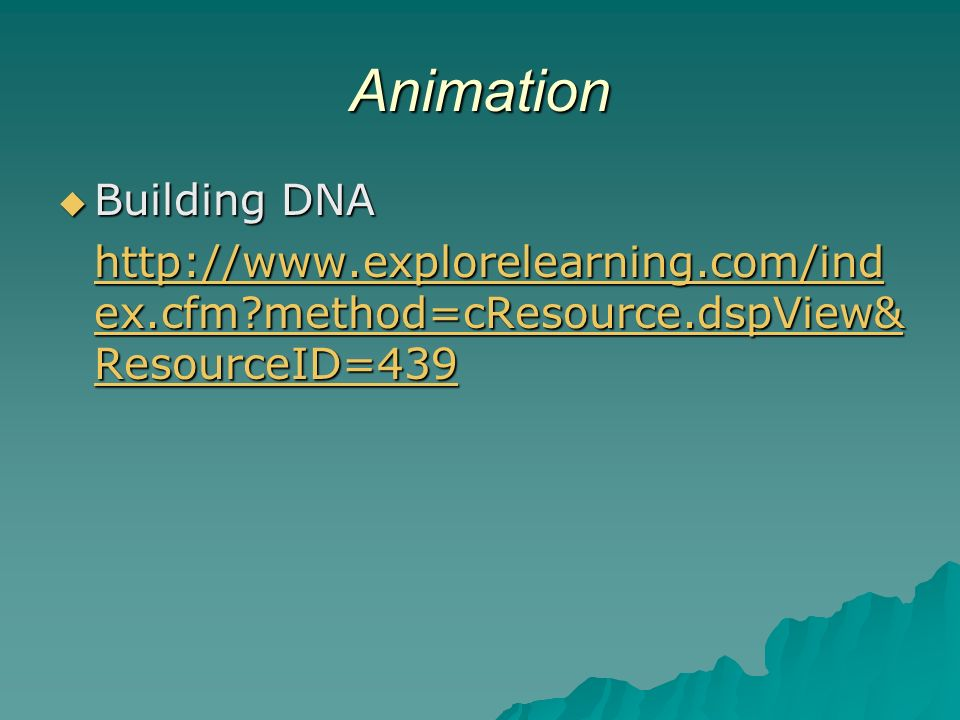 Animation Building DNA