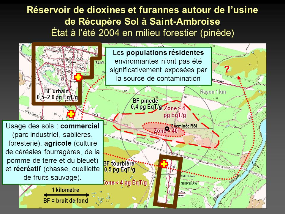 État à l'été 2004 en milieu forestier (pinède)