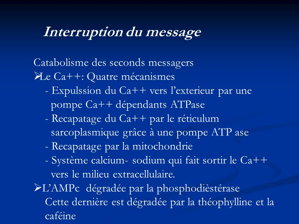 Interruption du message