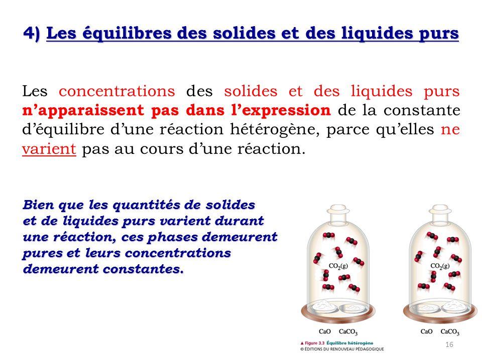 4) Les équilibres des solides et des liquides purs