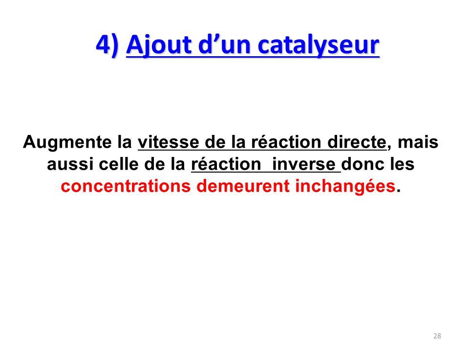 4) Ajout d'un catalyseur