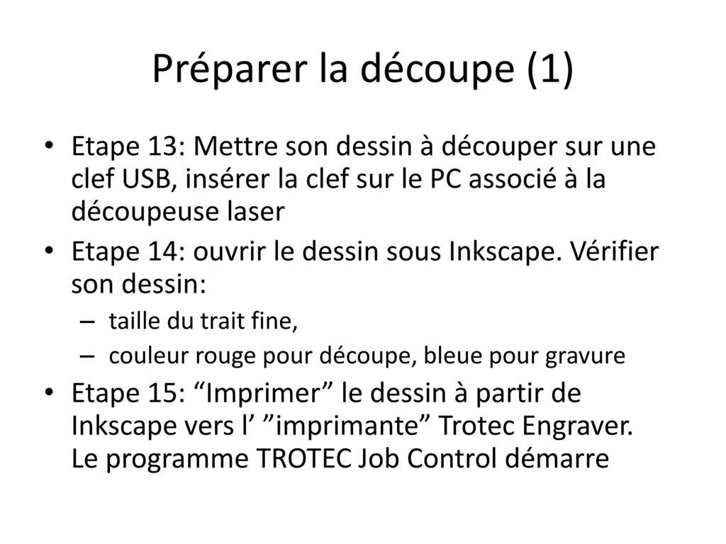 tutoriel d u00e9coupeuse laser trotec laser speedy ppt t u00e9l u00e9charger