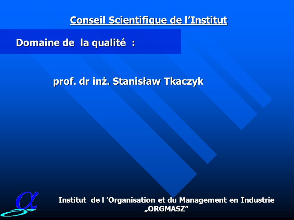 Conseil Scientifique de l'Institut