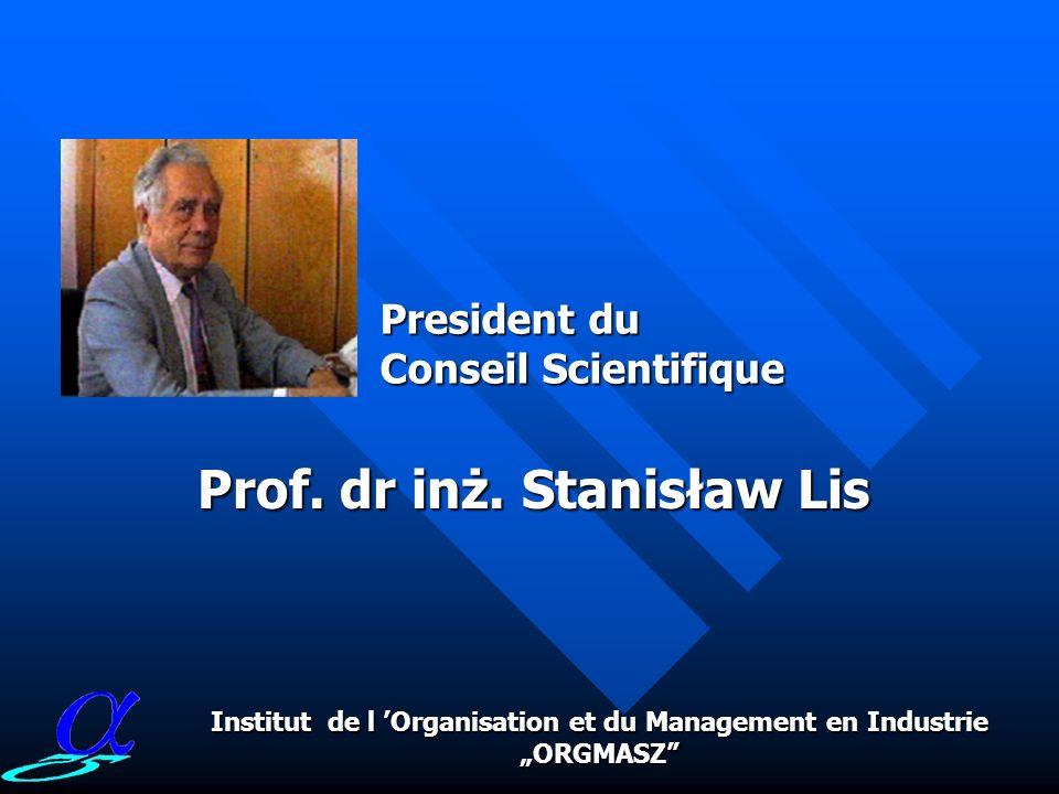 Prof. dr inż. Stanisław Lis