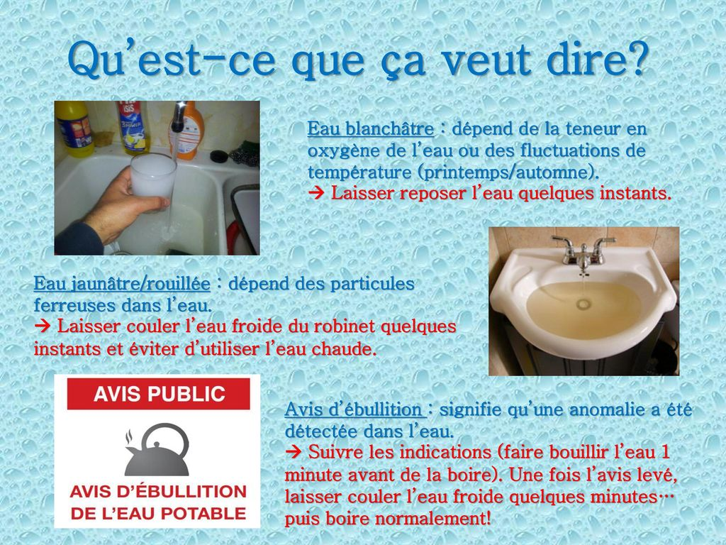 L eau ppt video online t l charger - Le ph de l eau du robinet ...