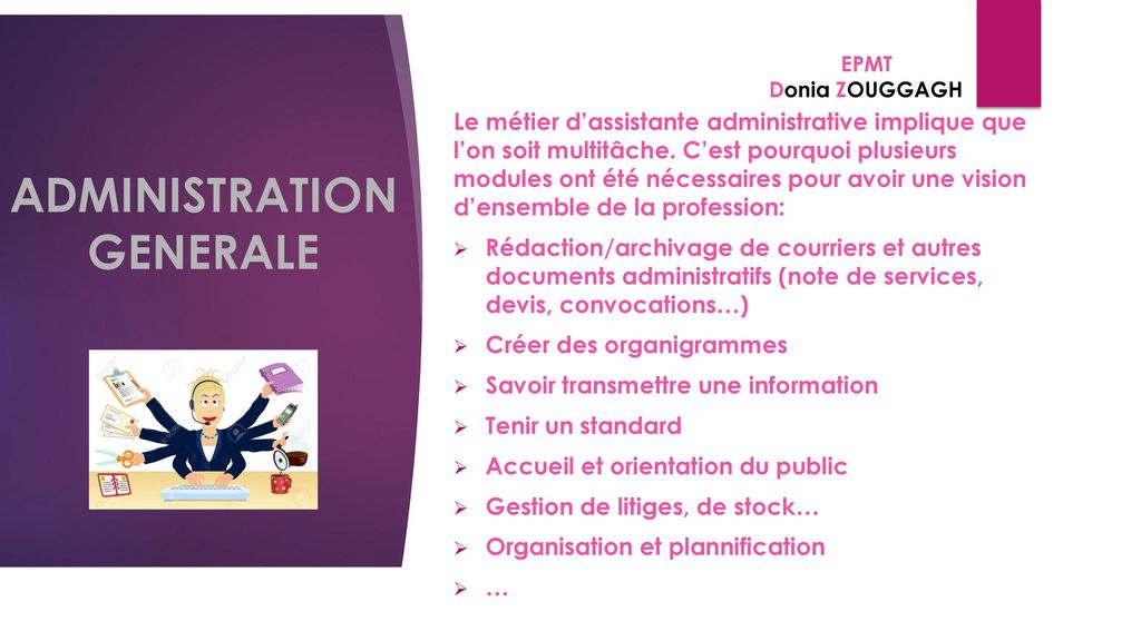 ADMINISTRATION GENERALE