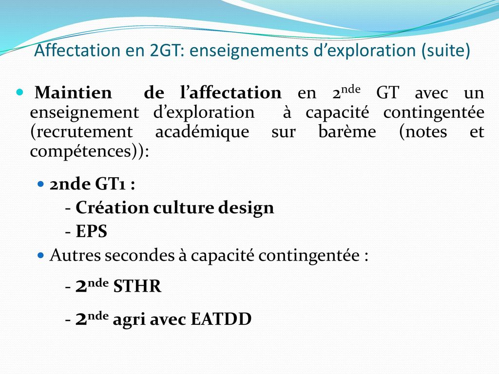 Le calendrier de l'orientation en classe de 3ème - ppt ...