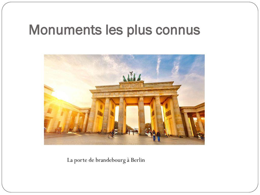 Allemagne deutschland ppt video online t l charger for Les monuments les plus connus