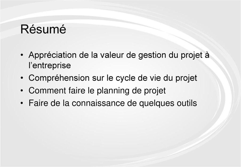 gestion du projet structure et d u00e9veloppement