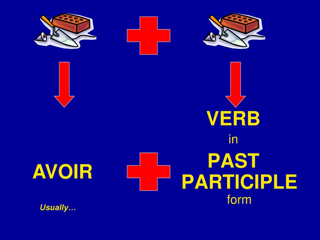 VERB PAST PARTICIPLE form AVOIR in Usually…
