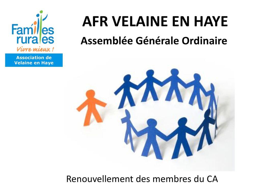 Afr velaine en haye assembl e g n rale 2016 vendredi 13 - Assemblee generale association renouvellement bureau ...