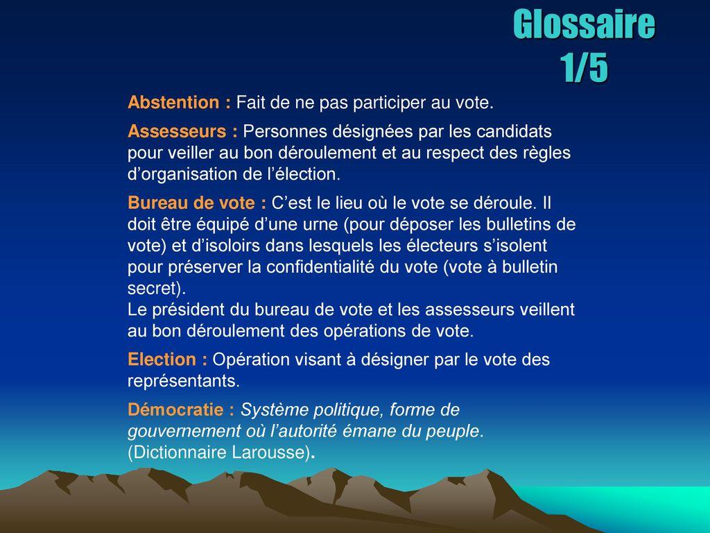 La democratie lyceenne ppt t l charger - Organisation bureau de vote ...