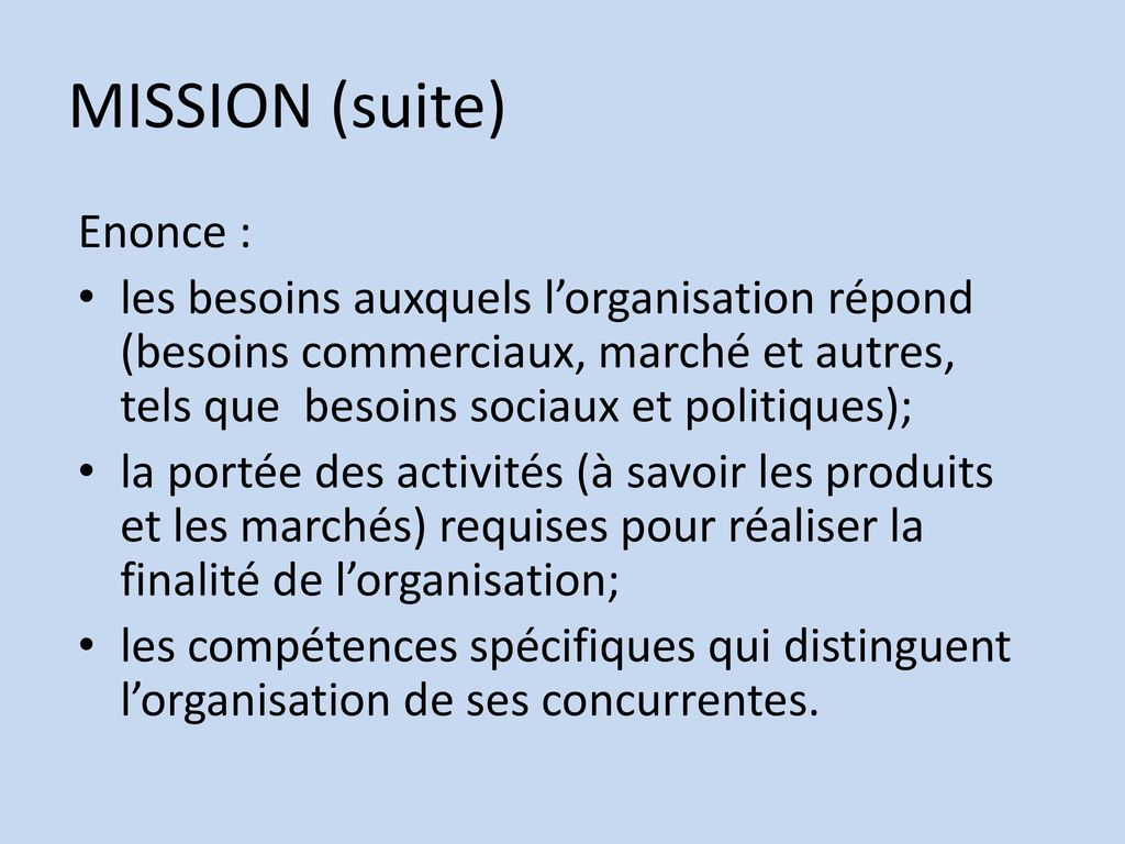 MISSION (suite) Enonce :