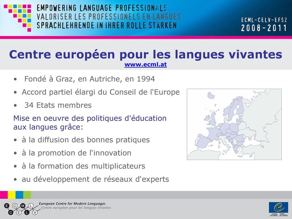 celv  le centre europ u00e9en pour les langues vivantes du conseil de l u2018europe  u00e0 graz