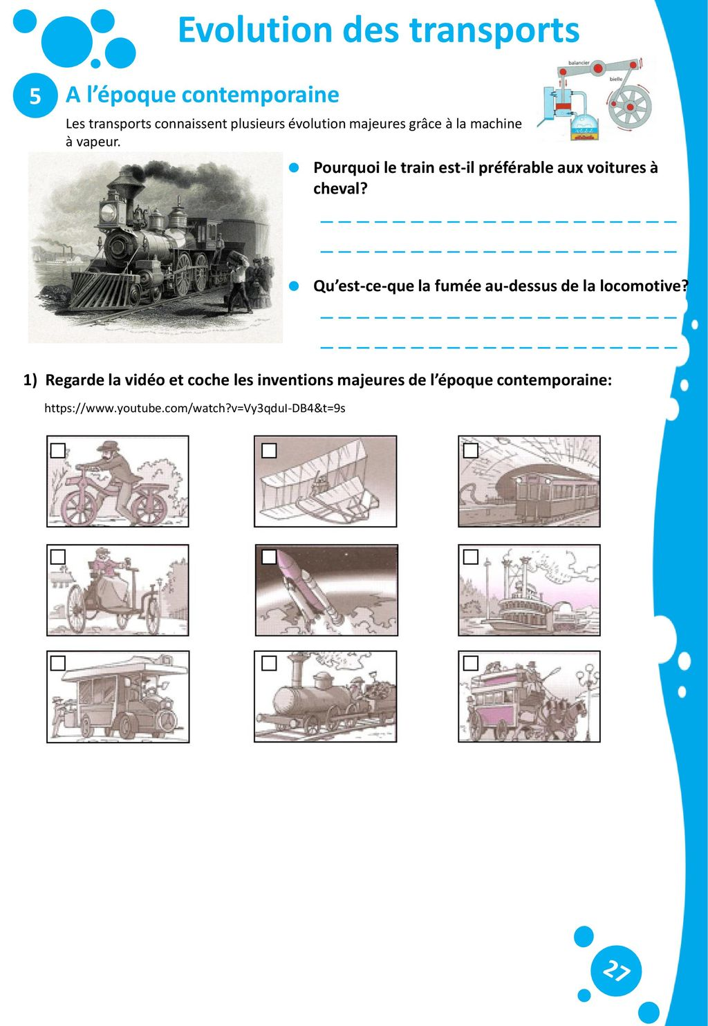 Evolution des transports
