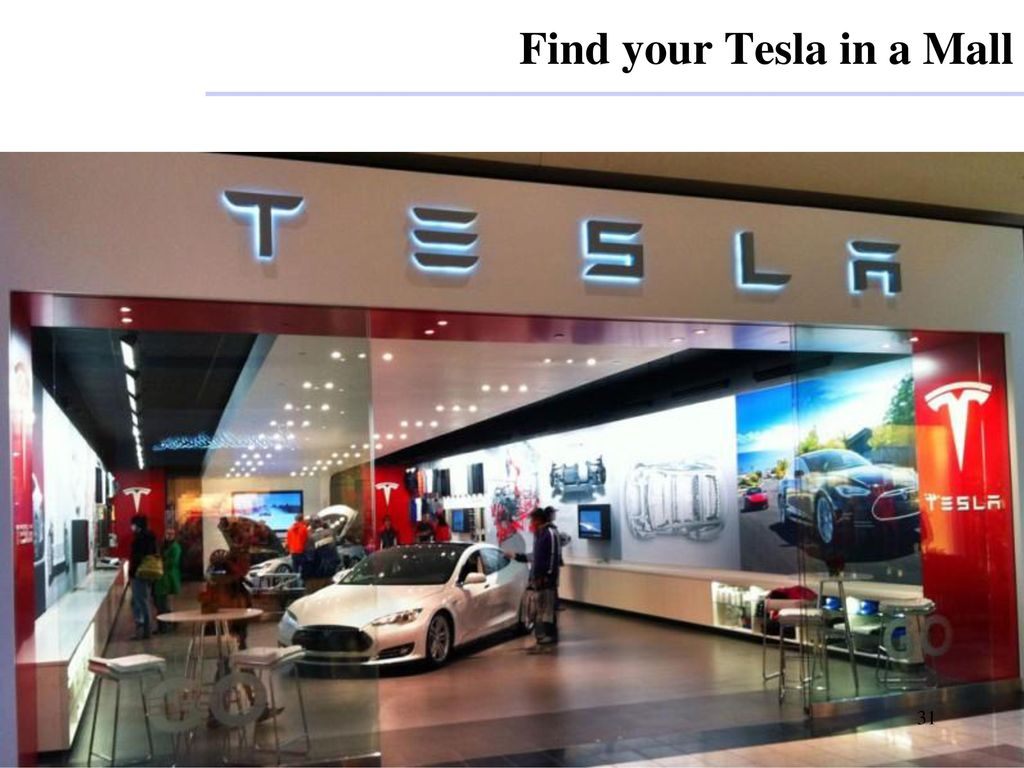 Find your Tesla in a Mall